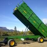 Remolque agrícola de 2 ejes con doble pistón