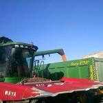 Bañera agricola de 3 ejes Beguer cosechando