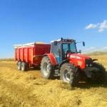 Bañeras agrícolas tándem Beguer cosecha de cereal