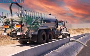 Cisterna tándem Beguer 23000 litros con aplicador de purin