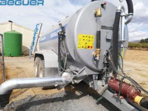 Cisterna tándem Beguer 14000 litros con aplicador de purin de 6 metros AB1-7
