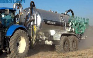 Cisterna agrícola de 22.000 litros Beguer con aplicador para purin AB3
