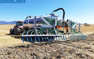 Cisternas agrícolas Beguer tándem con inyector de purín AB3